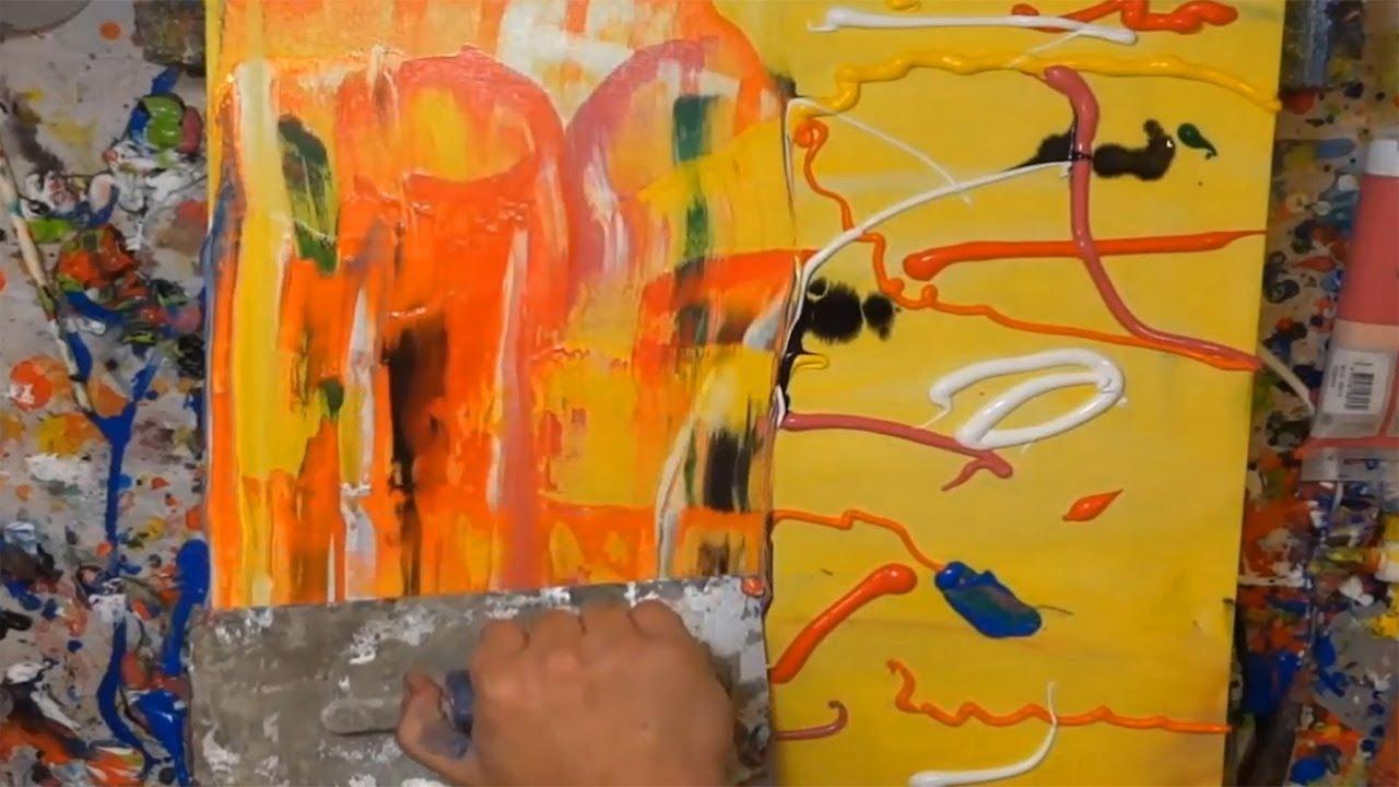tutorial abstrakte kunst (9) - wir malen ein bild - acryl spachtel