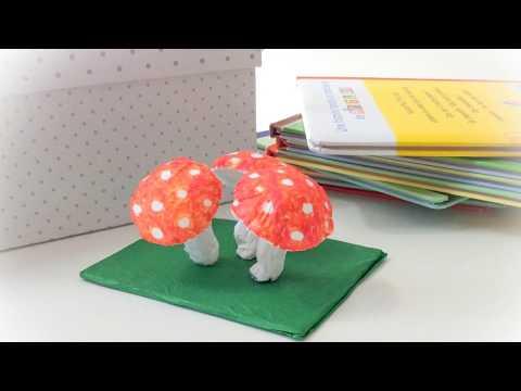 DIY Déco Champignons. Make the paper mushrooms.