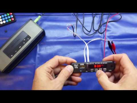 Super-cheap MP3 decoder / FM radio module review
