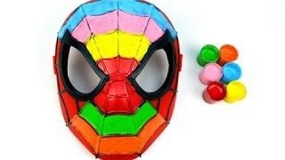 Learn Teach Colors Spider-Man Mask Face Paint Finger Family Song Nursery Rhymes Children Kids Video