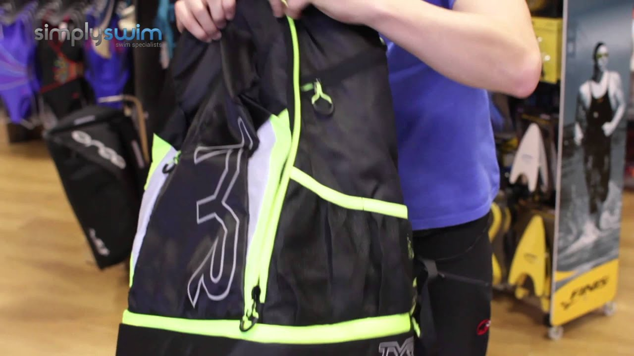 3e34b9169f Tyr Triathlon Backpack - www.simplyswim.com - YouTube