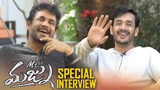 Nagarjuna & Akhil Funny interview - Mr.Majnu Movie interview