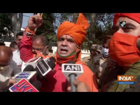 BJP workers hoist