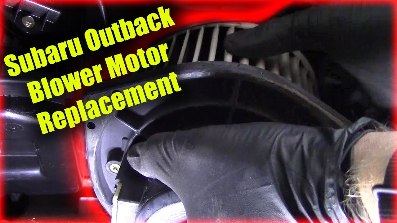 Subaru Outback Blower Motor Replacement Youtube 2011 Legacy Fuse Diagram