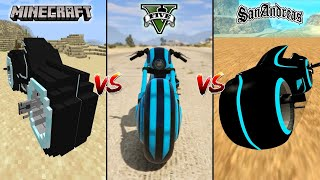 MINECRAFT TRON BIKE VS GTA 5 TRON BIKE VS GTA SAN ANDREAS TRON BIKE - WHICH IS BEST?