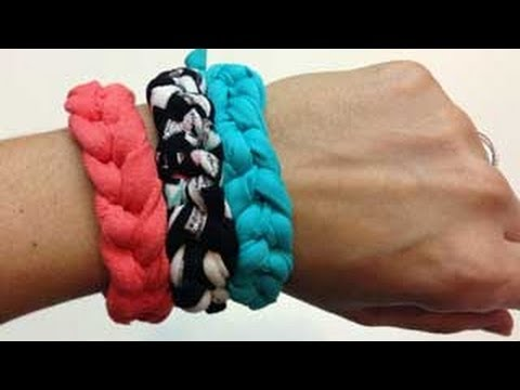 0f1235612484 Tutorial  4  Pulseras de trapillo - YouTube