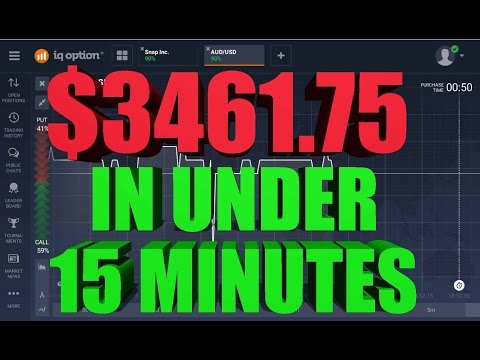 IQ Option $3461.75 In Under 15 minutes Live Trades