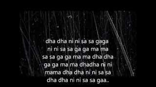 Mere dholna-Full lyric(sargam)+english translation.shreya&m.g. sreekumar.