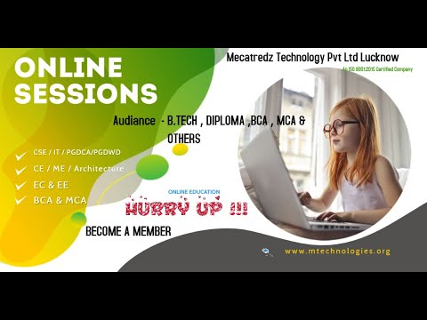 BEST ONLINE SESSIONS BY MECATREDZ TECHNOLOGY | DIPLOMA | B.TECH | BCA | MCA ONLINE SESSIONS