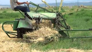 Old Fashioned Wheat Harvest w/ John Deere Binder and Silver King Tractor
