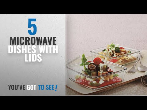 top-10-microwave-dishes-with-lids-[2018]:-borosil-square-dish-with-lid-and-storage-set,-3-pieces