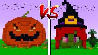 CASA ABÓBORA vs CASA BRUXA - Minecraft: Casa vs Casa