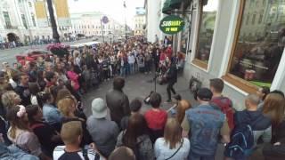 """Парняга жгёт на Невском! Лучше чем """"Наши в городе"""" 04.06.16"""