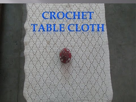 How To Make Rectangle Crochet Table Clothin Hindi Youtube