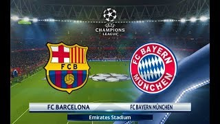 Barcelona vs Bayern Munchen | Coutinho Nice Goal | UEFA Champions League 2018 | PES 2018 Gameplay HD