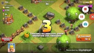 Debut sur clash of clans et un petit beug !!!!