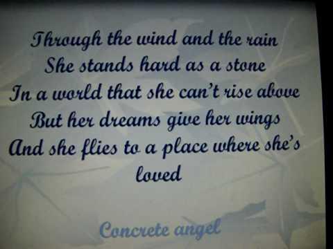 Concrete angel lyrics - Martina McBride - YouTube