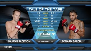 Fight of the Week: Damon Jackson Takes The Title in Rapid Fashion at Legacy 33