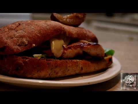 Chef Rita's Grilled Chicken Cordon Bleu Sandwich Tutorial