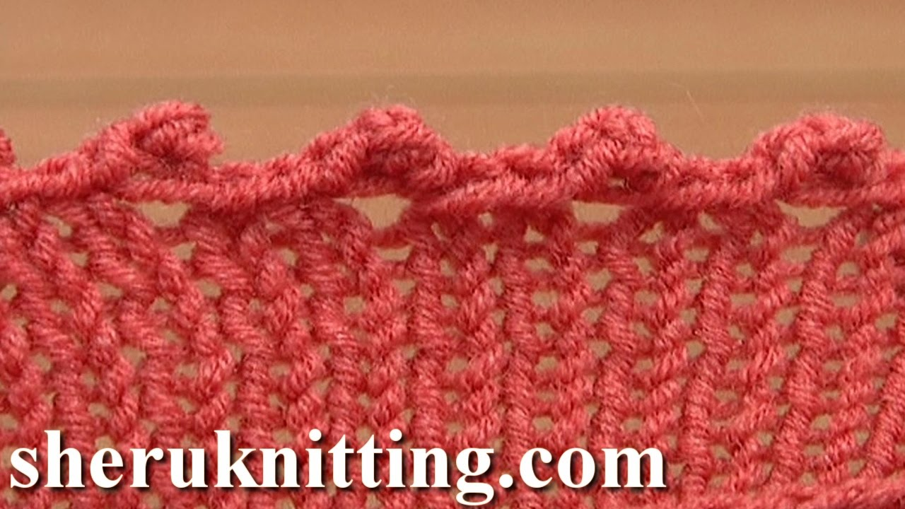 Picot Edge Bind Off Cast Off Tutorial 7 Method 8 of 12 Decorative Bind-off - ...
