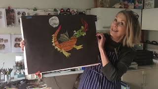 Make a Collage Storm Dragon With Carol Thompson