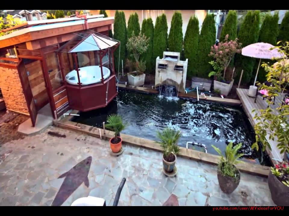 Koi fish garden ponds design ideas youtube for Types of pond design