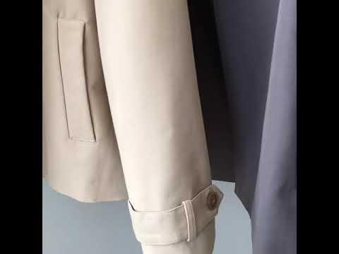 Charlotte 法式雙排扣英倫風短款風衣外套 風衣 外套 翻領外套 繫帶外套 排釦外套 短風衣 短外套 CHCO10