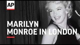 Marilyn Monroe Arrives in London for The Prince and the Showgirl