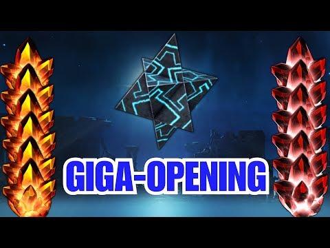 Giga-Opening : 31 Cristaux 4* / 627 Cristaux Super-Héroïques / Cristal de Cable 5*