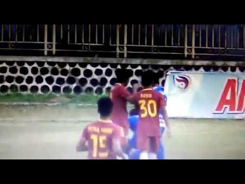 Viral pemain bhayangkara pukul wasit pertandingan antara persibara vs bhayangkara muda fc liga 3