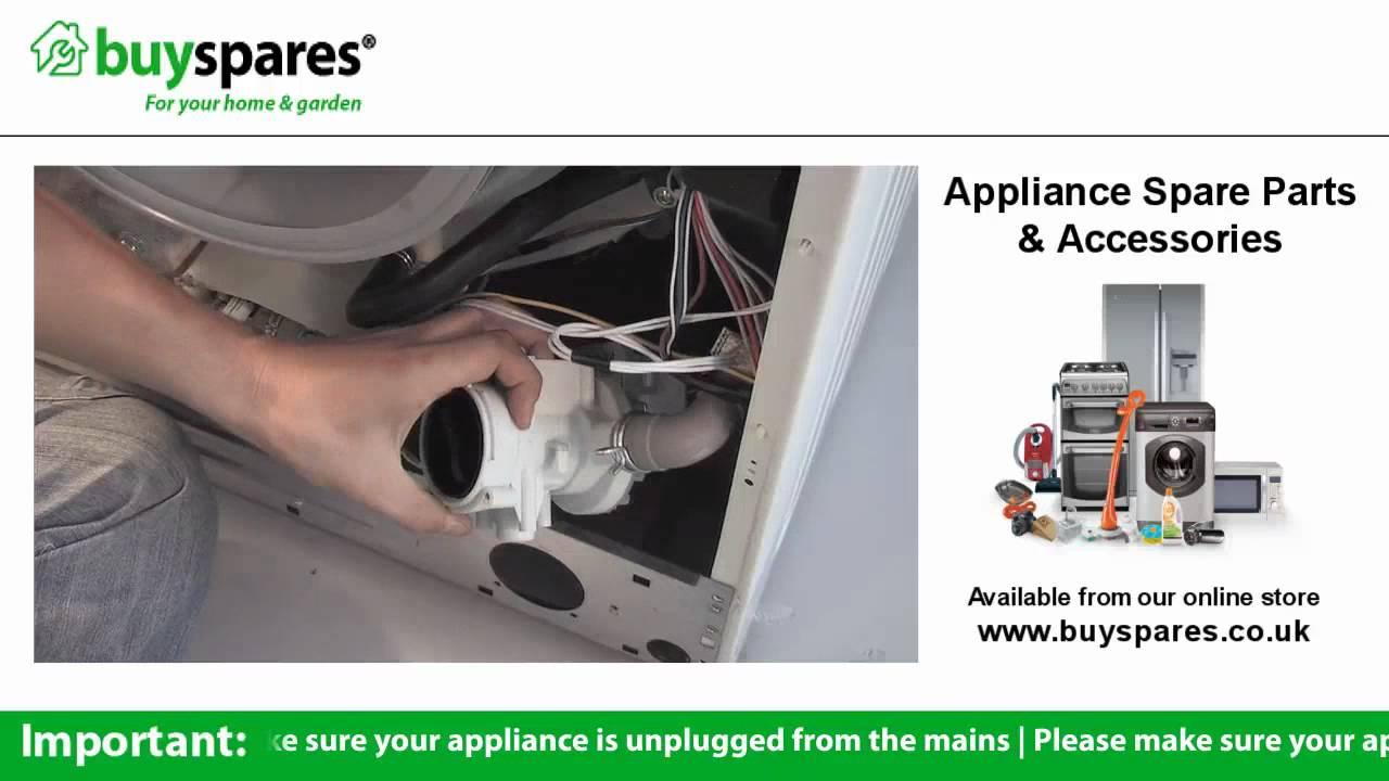 How To Replace The Pump In A Washing Machine Youtube