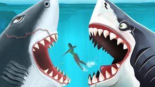 Megalodon VS Megalodon - The Meg Special!!! - Hungry Shark Evolution Vs World