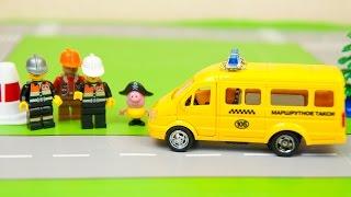 Мультик про машинки - 174 серия: Маршрутное такси, Автобус, Эвакуатор. Машинки для детей.