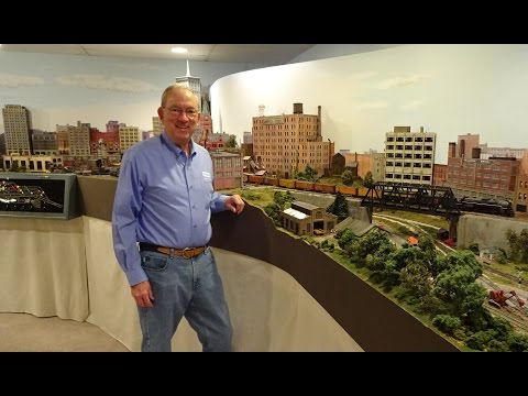 Large Private Model Railroad RR HO H.O. Scale Gauge Train Layout of Pete Walton's awesome trains