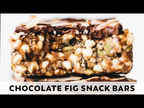 Chocolate Fig Snack Bars  vegan glutenfree, nobake