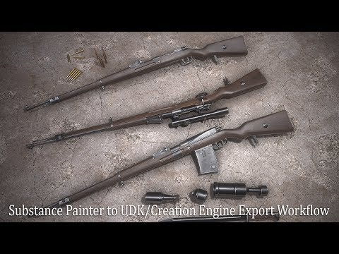 Substance Painter to UDK/Creation Engine Export Workflow