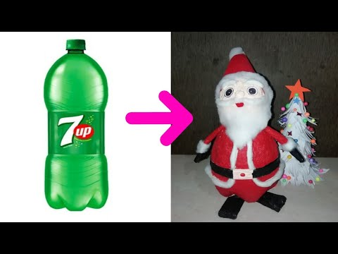DIY Christmas Room Decor Ideas/How to make Santa Claus at Home/Santa Claus making with bottle