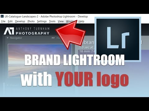 How to set up your lightroom identity plate with your own logo