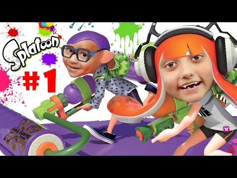 Lets Play SPLATOON Part 1: We Are So Not Fresh Yet  Lair of the Octoballs Gameplay cuttlefish