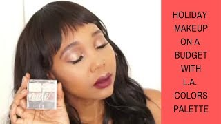 Holiday glam makeup on a budget  |  Trying dollar tree makeup from L.A. Colors |  Roxie Stars