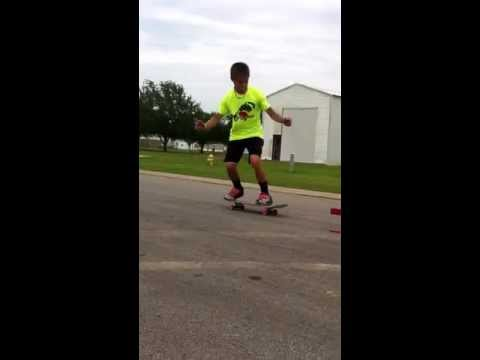 Skateboarding at Conners house