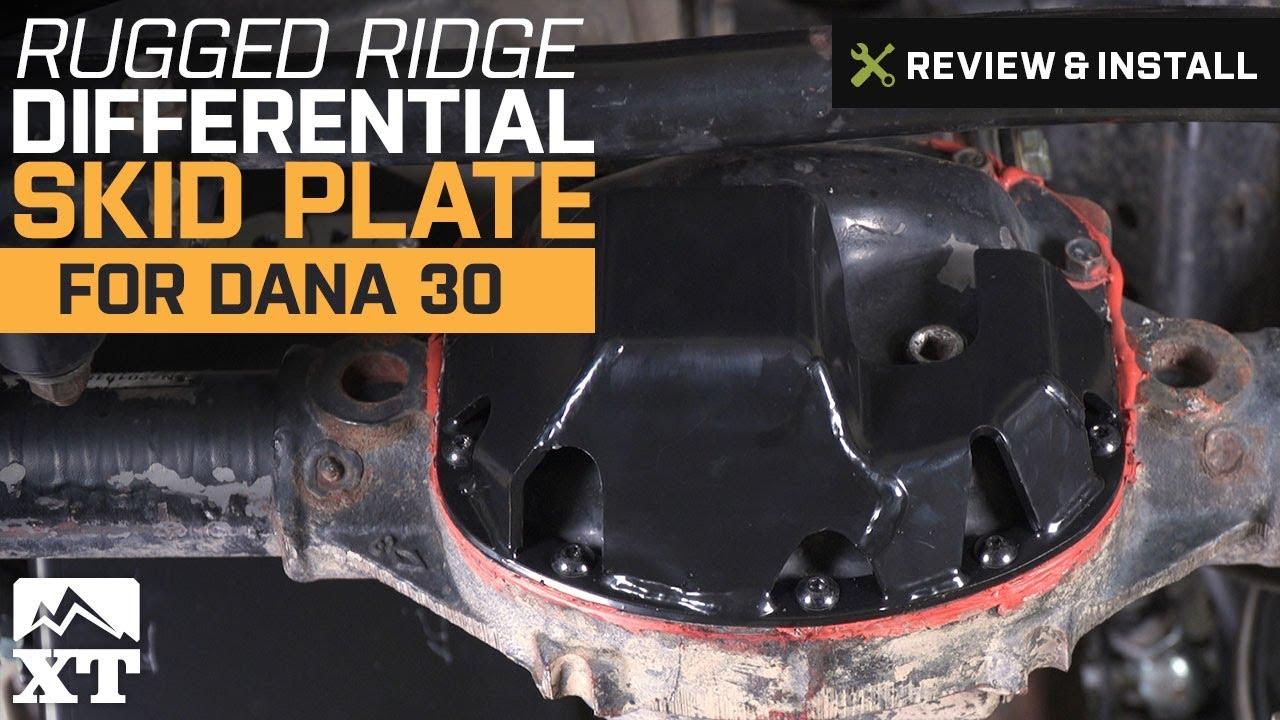 Rugged Ridge 16597.30 Black Differential Skid Plate for Dana 30