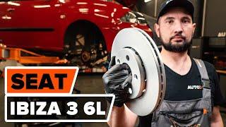 Hvordan udskiftes bremseskiver foran til SEAT IBIZA 3 6L [UNDERVISNINGSLEKTIONER AUTODOC]