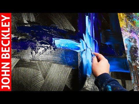 Peinture Acrylique Démonstration Peinture Abstraite Au