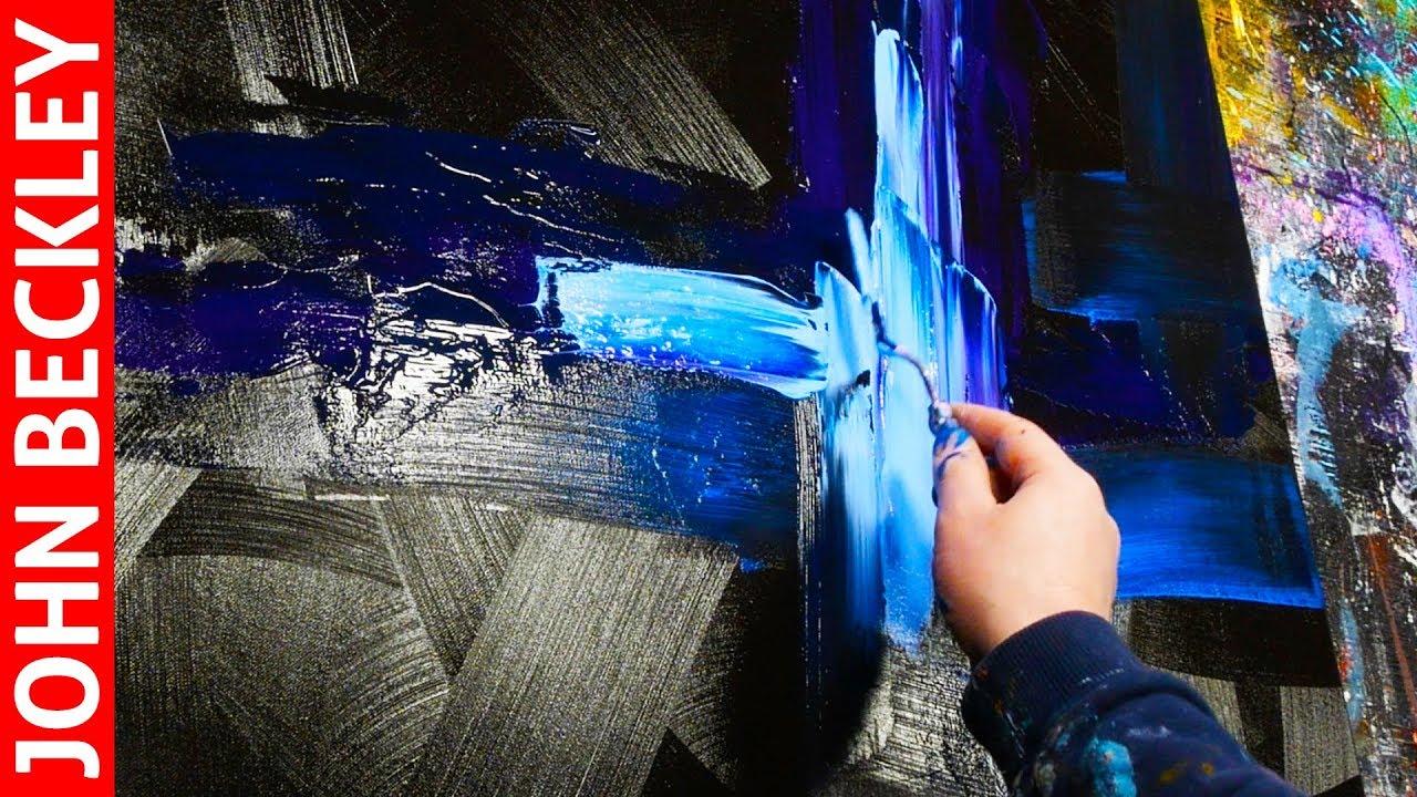Peinture Acrylique Démonstration Peinture Abstraite Au Couteau
