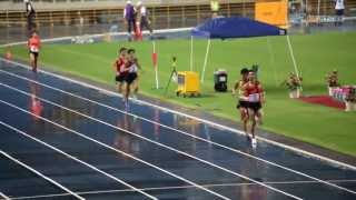 102年 全國運動會 男子組5000公尺雨中決賽