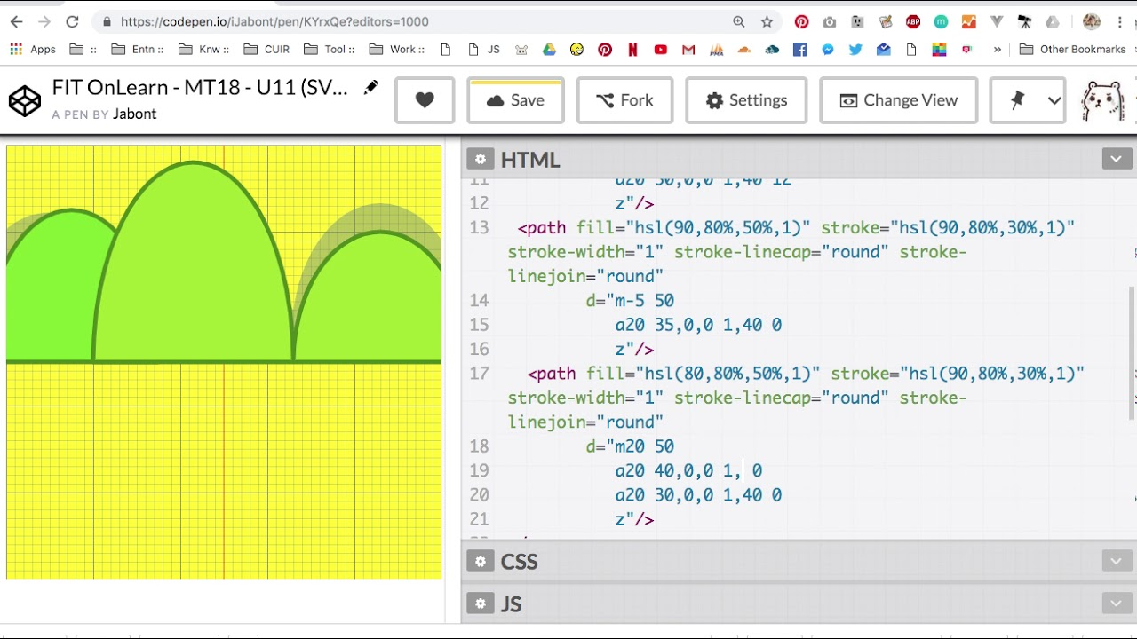 FIT OnLearn MT18 U11 SVG V2 Arch Draw - วาด SVG เป็นรูปวิวด้วย Arc Path