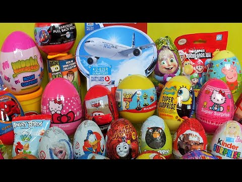 40 Surprise Eggs Moshi Monsters Hello Kitty Thomas And