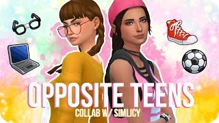Sims 4 Create a Sim | Opposite Teens Collab w/ SimLicy