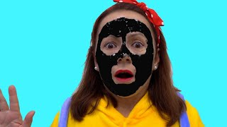 my face and my hands are black وجهي ويدي سوداء  Anabella Show